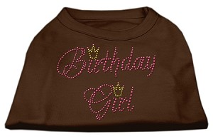 Birthday Girl Rhinestone Shirt Brown XXL (18)